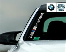 "BMW M Performance Black Windshield Decal windows sticker 23""x1.6"" NO BACKGROUND"
