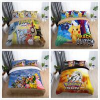 3D Pokemon Pikachu Lapras Bedding Set Kids Duvet Cover Quilt Cover Pillowcase