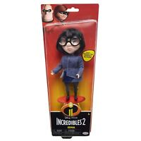 """Disney Incredibles 2 Edna Doll 8"""" Figure Blue Fabric Top Fully Poseable NEW"""