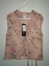 Katies Brand Dusty Pink Floral 2 Piece Top, Size 8  * Brand New with Tags *