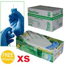 1000/Cs Disposable Powder-Free Nitrile Medical Exam (Latex Free) Gloves  X-Small