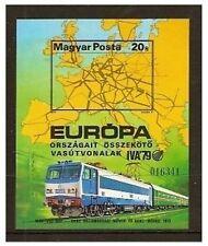 Hungary - 1979 International Transport (Rail) (Imperf) sheet - MNH - SG MS3244