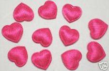 Cute Small Padded Satin Heart appliques x160 Fuschia