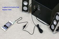 Wired Remote Bypass Cable w/ volume control for Logitech z4 Computer Speakers