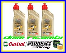 Kit Tagliando MV AGUSTA F3 675 11 + Filtro Olio CASTROL POWER1 RACING 5W40 2011