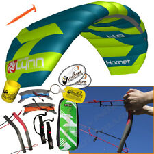 Peter Lynn Hornet 4M Foil Power Kite Kiteboarding 4-Line Fixed Quad Handles 2017