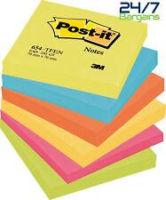 3M POST-IT sticky notes memo pads 76MM x 76MM in 100 fogli Pads-Pads 6 x 100