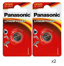 GENUINE PANASONIC 2X CR1632 3V LITHIUM COIN CELL BATTERY DL1632 KCR1632, BR1632