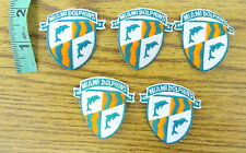 Miami Dolphins Sew On/ Iron On Patches (Lot of 5)