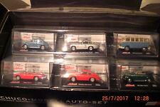 Schuco voiture miniature Set de Collection 1:72 VW Beetle MERCEDES VW BULLY MGB PORSCHE NEUF