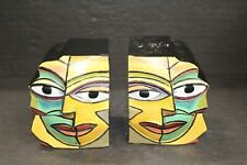 Modernist Dundee Designs Shirley Lloyd Davies Abstract Face Bookends Eames