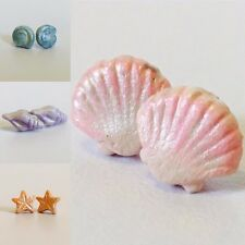 Shell Earrings, Mermaid Jewellery, Seashell Studs, Mermaid Earrings, Ocean,