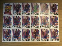 MATCH ATTAX 2020/21 FULL TEAM SET OF ALL 18 BARCELONA CARDS BAR1-BAR18