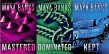 The Enforcers EROTICA Series Paperback Collection Set Books 1-3 by Maya Banks