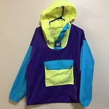 90's NEON K-WAY Color Block Windbreaker Jacket