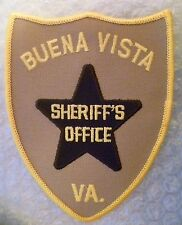Patch- Buena Vista Sheriff's Office VA US Police Patch (NEW, apx. 125x95 mm)