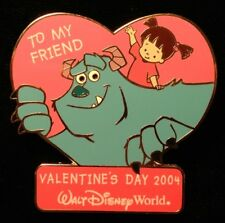 DISNEY PIN - Monsters Inc SULLEY BOO Sweetheart Collection Valentine 2004 WDW LE