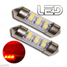 2 Ampoule Navette C5W 35 mm 35mm 6 LED  ROUGE Eclairage Habitacle Plafonnier