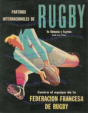 Argentina, Francia, Sudáfrica 3 Rugby coincide con carteles 1949-1960 impresionantes obras de arte