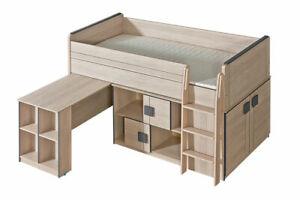 Kid's Bed Teen Bed Loft Bed+ Desk And Wardrobe Bed Kid's Room New