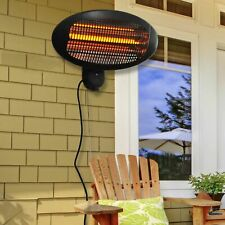 More details for outsunny 2kw patio heater garden wall mount electric infrared warmer heating