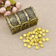 """1:6 Scale Treasure Box Chest Gold Coin Vintage Mini Toy For 12"""" Action Figure"""