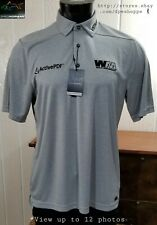 NEW Greg Norman -Sewn -Charley Hoffman Waste Management- Golf Tour Polo Shirt M