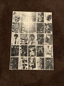 The Beatles Partial Uncut Card Sheet Blank Back O Pee Chee OPC Not Topps