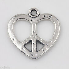 Wholesale 20Pcs Tibetan Silver Heart Shape Charms Pendants Jewelrys 19x18mm