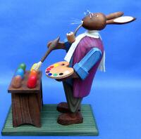 Hasenmädchen mit Hühnergruppe Hase Hühner Osterhase Neu vom Steglich Fachhändler