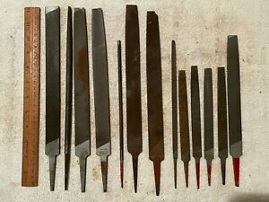 Lot of 13 Vintage Simonds metal/wood working files. Assorted Patters & Shapes.