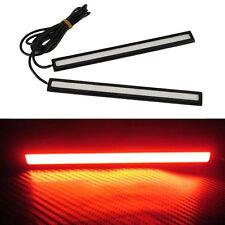 Red Car Daytime Running Light COB LED 12V DRL Auto Driving Fog Strip Lamp 17CM