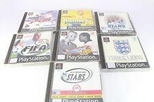 Sony PS1 Playstation Fifa 2000 Three Lions ISS Pro 98 Ronaldo V Football PAL
