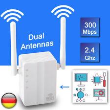 300Mbps WPS Wireless WiFi WLAN Repeater Verstärker Extender Router mit 2 Antenne