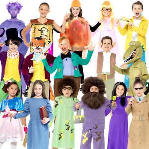 Roald Dahl World Book Day Kids Fancy Dress Character Week Boys Girls Costumes