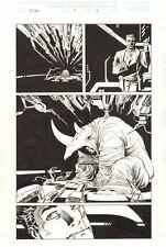 Ka-Zar #5 p.6 - The Rhino Splash - 1997 art by Andy Kubert