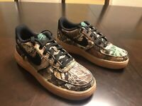 New Nike Air Force 1 LV8 Woodland Camo Sneaker Shoes Size US 5.5