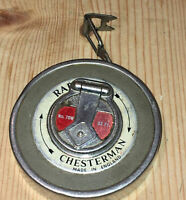 VINTAGE USED RABONE CHESTERMAN No. 70W 33FT TAPE MEASURE TOOL RETRACTABLE RULER