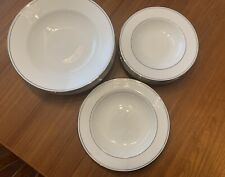 Lenox Classics Collection Federal Platinum Rimmed Soup Bowls - Set Of 13 Bowls