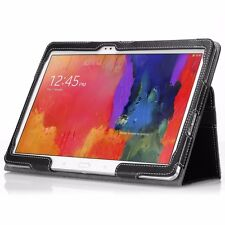 For Samsung Galaxy Tab Pro 10.1 Case Poetic PU Leather Cover -【SlimBook】Black