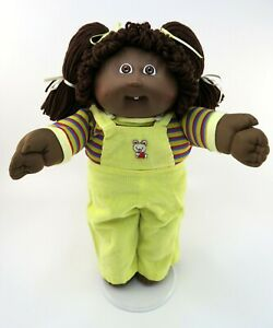 Cabbage Patch Kids Girl Doll CPK AA African American Overalls Outfit Clothes