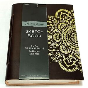 Master's Touch Sketch Book Leather Acid Free 144 Pages 5 x 7 in Handmade