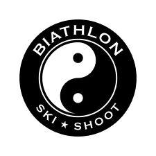 Biathlon Decal - Yin-Yang - 3.0 Inches