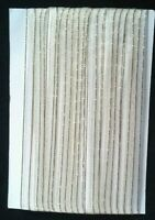 5M 6mm Thin White Gold Edged Organza Ribbon Trim Card Making Scrapbooking Home