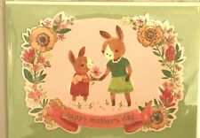 Papyrus Mother's Day card Two Cute Donkeys Floral Glitter Wreath  Sweet Memories