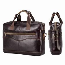 b1ec2b442f Mens Briefcase Business Leather Laptop Shoulder Bag Crossbody Handbag  Attache UK