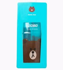 Korea LINE Friends Brown Travel Pack 2080 Toothbrush Toothpaste Set Gift