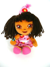 "Ty Dora the Explorer Happy Birthday Plush Doll 7"" Pink Satin Dress 2010"