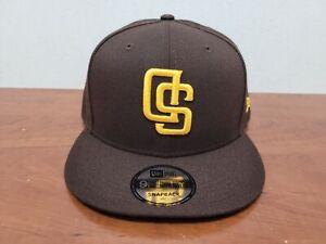 Men's New Era 9Fifty San Diego Padres Brown/Gold Upside Down Logo Snapback