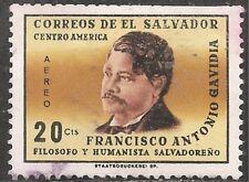 El Salvador Air Post Stamp - Scott #C225/A192 20c Black & Bister Canc/LH 1965